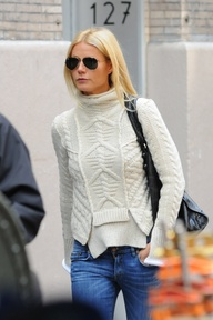 winter white sweater w jeans