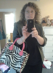 zebra bag half  closeup